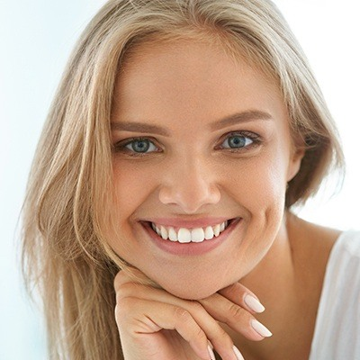 Woman with healthy teeth and gums